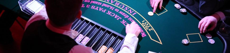 Casinoevents, Leje af casino, blackjack, roulette til temafester